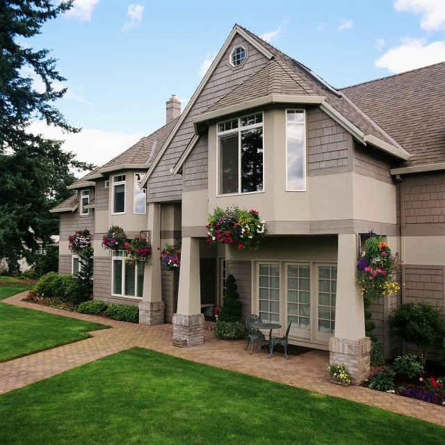 Gray Traditional Style Home